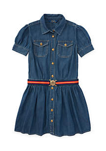 Girls 4-6x Denim Shirtdress