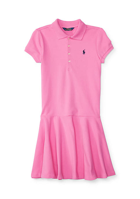 Mesh Polo Dress Girls 4-6X