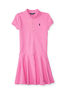 Mesh Polo Dress Girls 4-6X