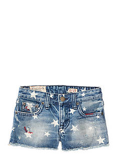 Ralph Lauren Childrenswear Star-Print Denim Shorts Girls 4-6x