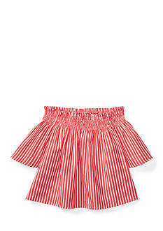 Ralph Lauren Childrenswear Striped Off-the-Shoulder Top Girls 4-6x