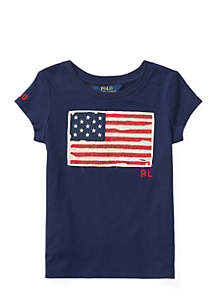 Washed Cotton Graphic Tee Girls 4-6x