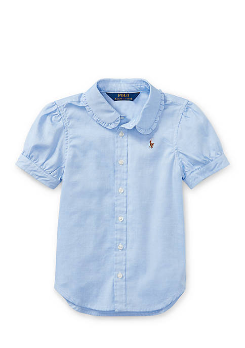 Ralph Lauren Childrenswear Cotton Oxford Shirt Girls 4-6x