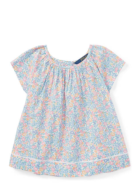 Ralph Lauren Childrenswear Floral Flutter-Sleeve Top Girls 4-6x