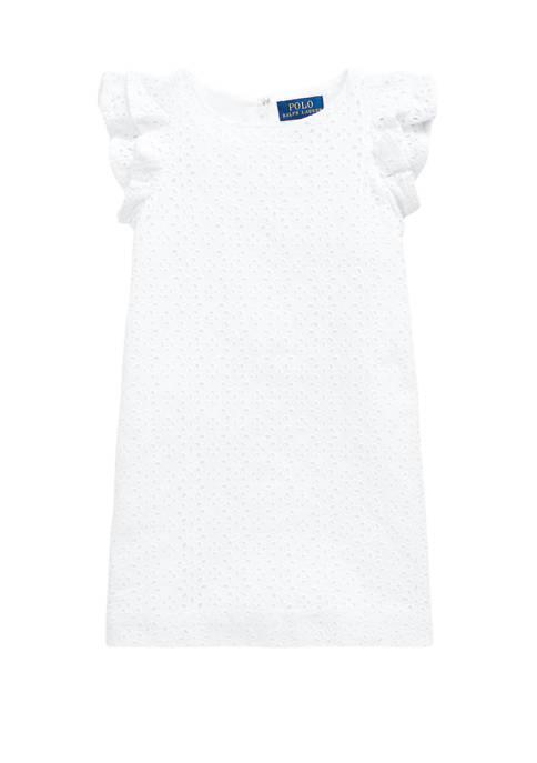 Ralph Lauren Childrenswear Girls 4-6x Eyelet Embroidered Cotton