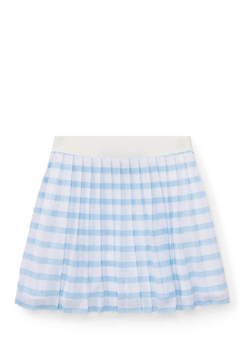 Ralph Lauren Childrenswear Striped Pleated Jersey Skirt Girls