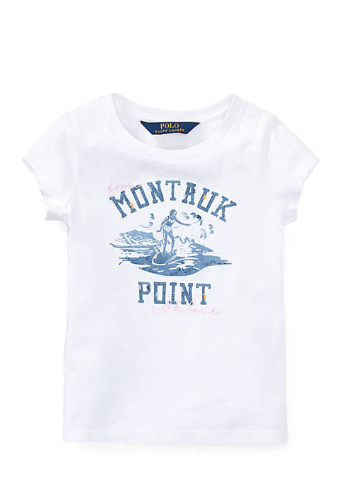 Ralph Lauren Childrenswear Girls Toddler Mermaid-Print Cotton