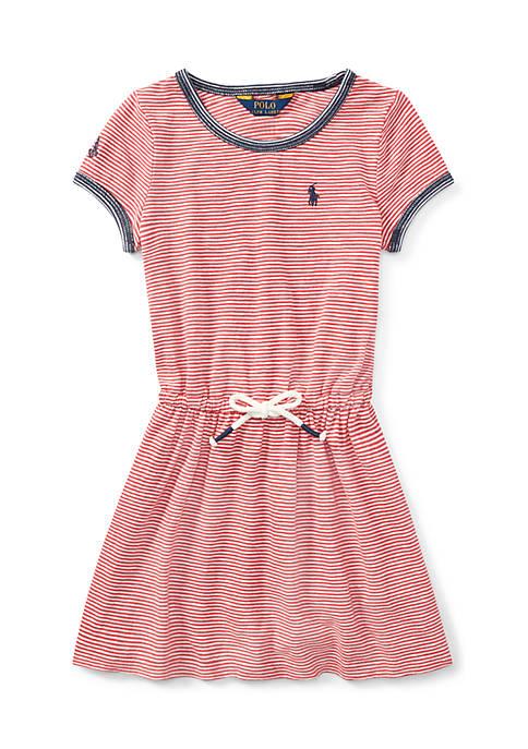Girls 4-6x Striped Jersey T-Shirt Dress
