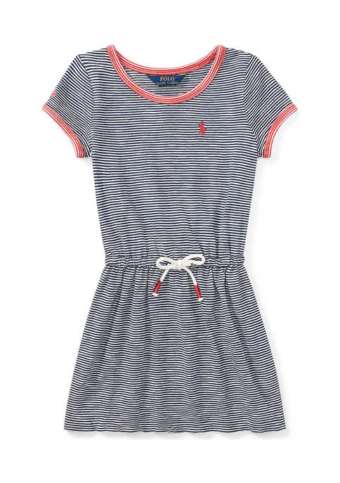 Girls 4-6x Striped Jersey T-Shirt Dress