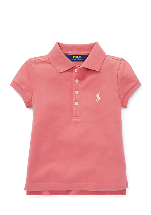 Polo Ralph Lauren Girls 4-6x Stretch Pique Polo