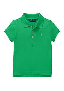 Girls 4-6x Stretch Piqué Polo Shirt