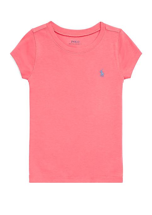 Ralph Lauren Childrenswear Girls 4-6x Short Sleeve Crew