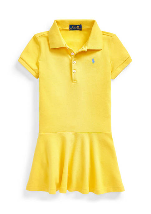 Ralph Lauren Childrenswear Girls 4-6x Stretch Piqué Polo
