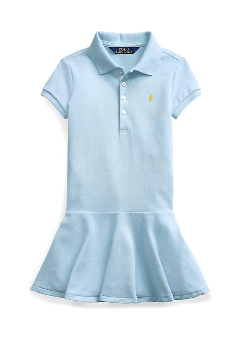 Ralph Lauren Childrenswear Girls 4-6x Stretch Piqué Polo
