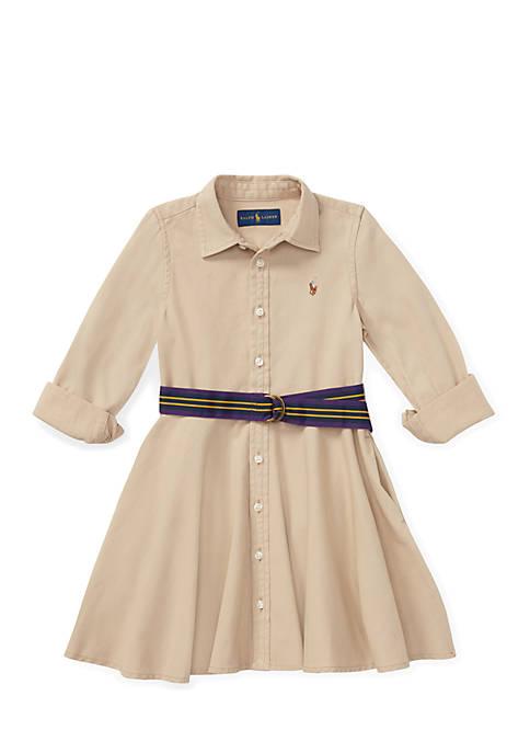 Ralph Lauren Childrenswear Girls 4-6x Belted Cotton Chino