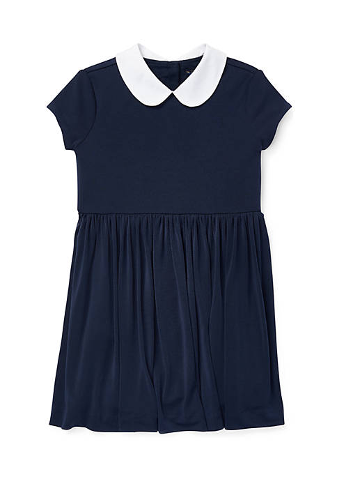 Ralph Lauren Childrenswear Girls 4-6x Crepe Fit-and-Flare Dress