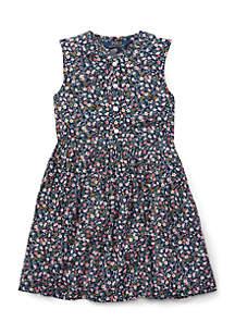 Girls 4-6x Floral Shift Dress