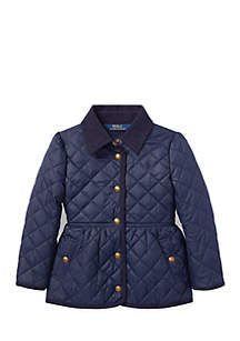 Girls 4-6x Quilted Barn Jacket