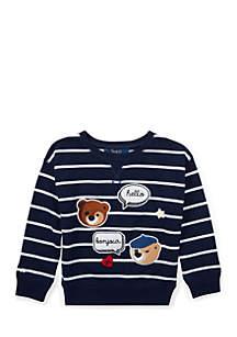 Girls 4-6x Striped Patchwork Sweatshirt