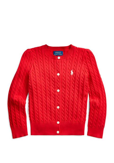 Ralph Lauren Childrenswear Baby Boys Cable-Knit Cotton Cardigan