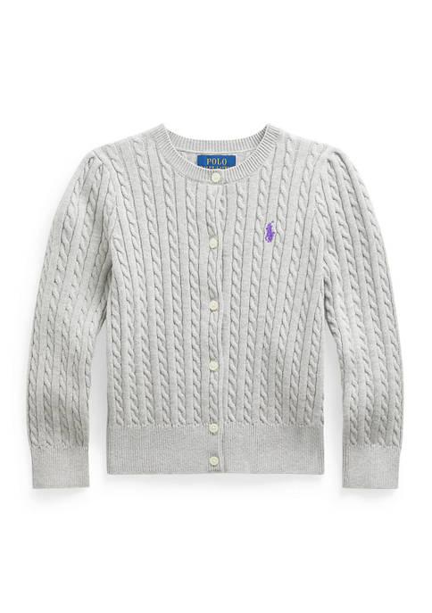 Ralph Lauren Childrenswear Girls 4-6X Cable-Knit Cotton Cardigan