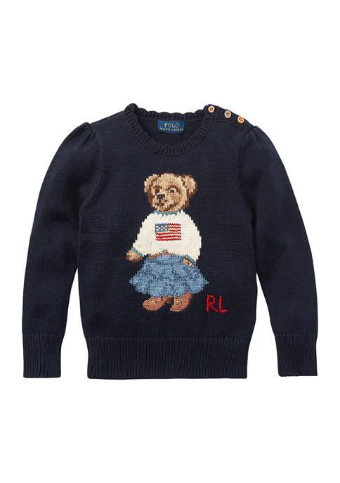Girls 4-6x Polo Bear Cotton Sweater
