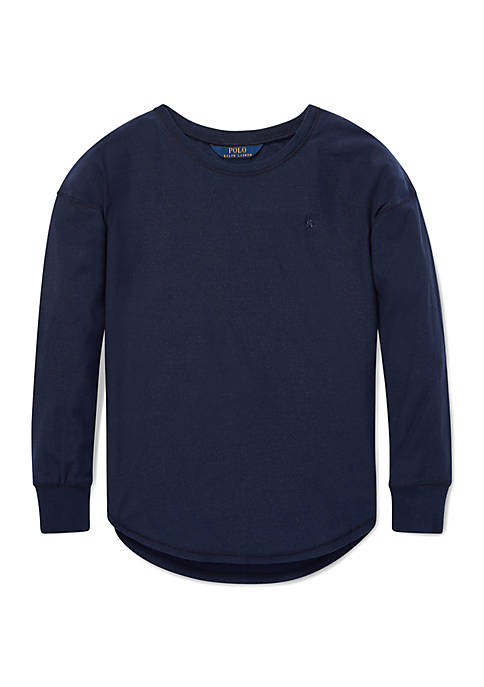 Ralph Lauren Childrenswear Girls 4-6x Metallic Jersey Top