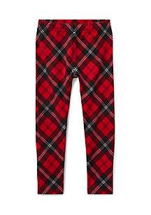 Girls 4-6X Tartan Jersey Legging