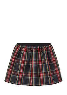 Girls 4 - 6X Tartan Plaid Pull-On Skirt