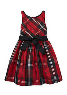 Girls 4 - 6X Belted Pleated Georgette Dress