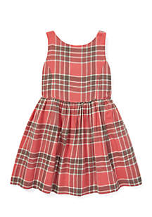 Girls 4-6x Plaid Fit-and-Flare Dress