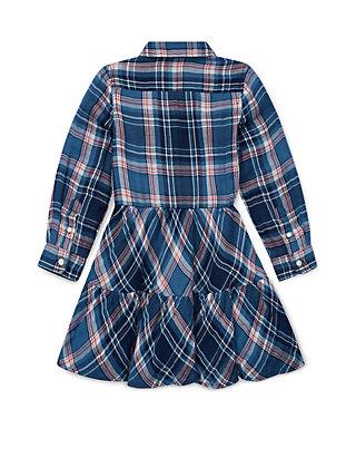 44d616965 Ralph Lauren Childrenswear Girls 4-6x Tiered Plaid Cotton Shirtdress ...