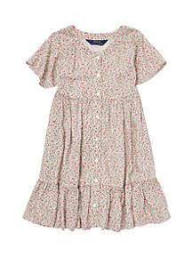Girls 4-6x Floral Woven Dress