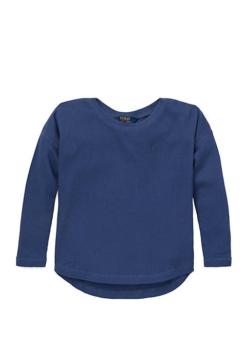 Ralph Lauren Childrenswear Girls 4-6x Waffle Knit Top