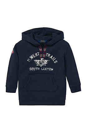 ca1780c6f Ralph Lauren Childrenswear Girls 4-6x Cotton-Blend Graphic Hoodie ...