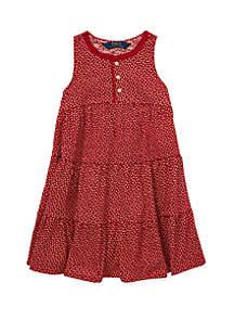 Girls 4-6x Floral Cotton Jersey Dress