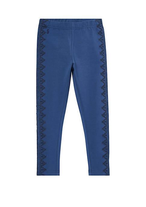 Ralph Lauren Childrenswear Girls 4-6x Embroidered Jersey Legging