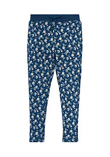 Girls 4-6x Floral Cotton Terry Pant