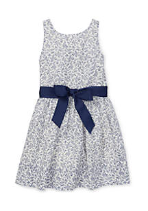 Girls 4-6x Floral Fit-and-Flare Dress