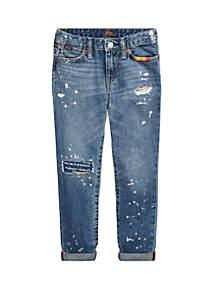 Ralph Lauren Childrenswear Girls 4-6x Distressed Slim Boyfriend Jeans