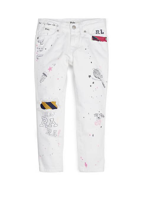 Ralph Lauren Childrenswear Girls 4-6x Graffiti Slim Boyfriend