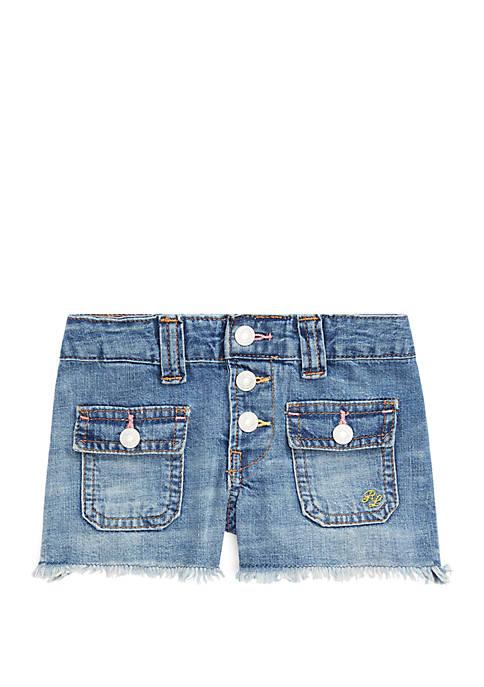 Ralph Lauren Childrenswear Girls 4-6x Patch Pocket Denim