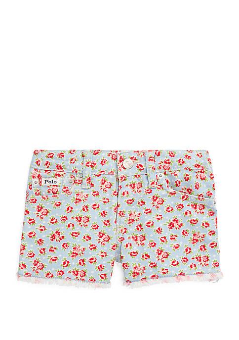 Ralph Lauren Childrenswear Girls 4-6x Floral Cotton Denim