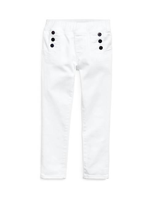 Ralph Lauren Childrenswear Girls 4-6x Nautical Aubrie Denim