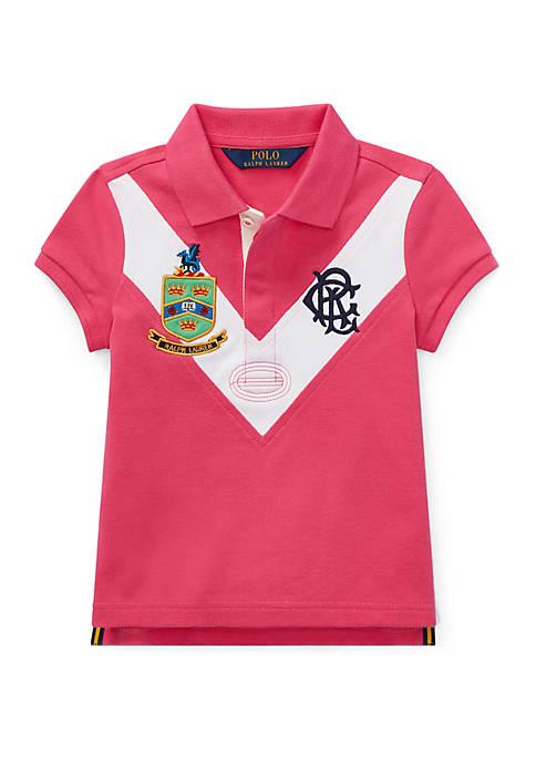 Girls 4-6x Stretch Mesh Polo Shirt