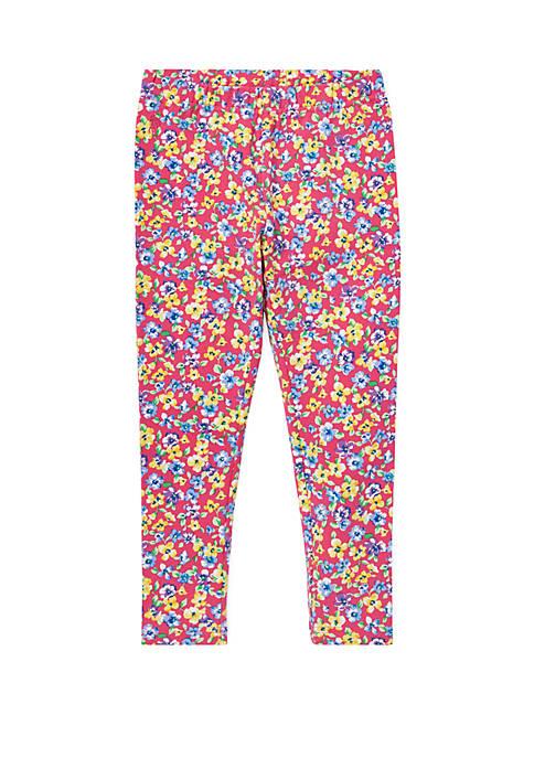 Girls 4-6x Floral Jersey Leggings
