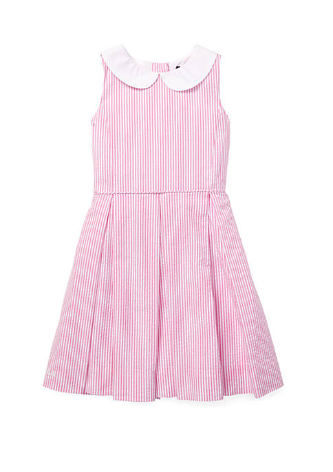Ralph Lauren Childrenswear Girls 4-6x Seersucker Fit and
