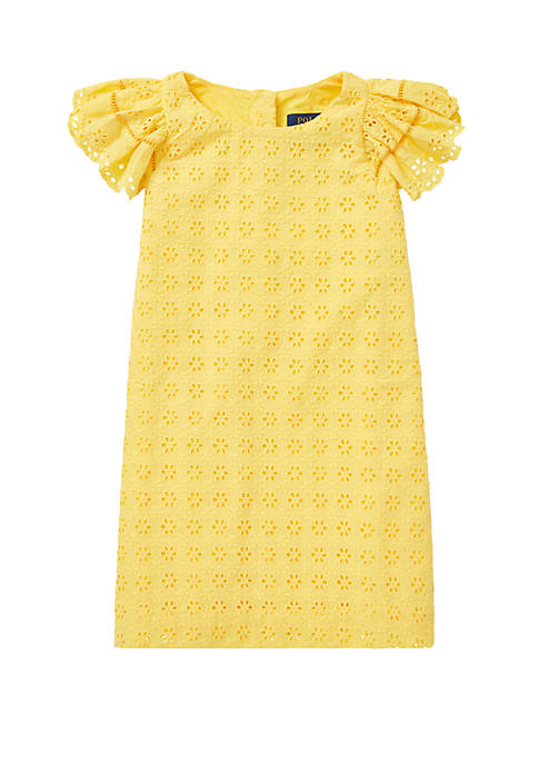 Girls 4-6x Eyelet Woven Dress