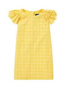 Ralph Lauren Childrenswear Girls 4-6x Eyelet Woven Dress
