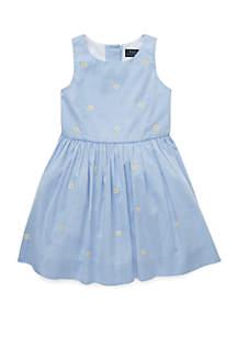 Ralph Lauren Childrenswear Girls 4-6x Daisy Fit and Flare Dress